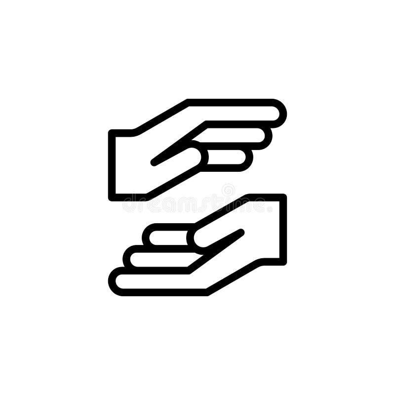2手势概述象 手势例证象的元素 标志,标志可以为网,商标,流动应用程序,UI使用 库存例证