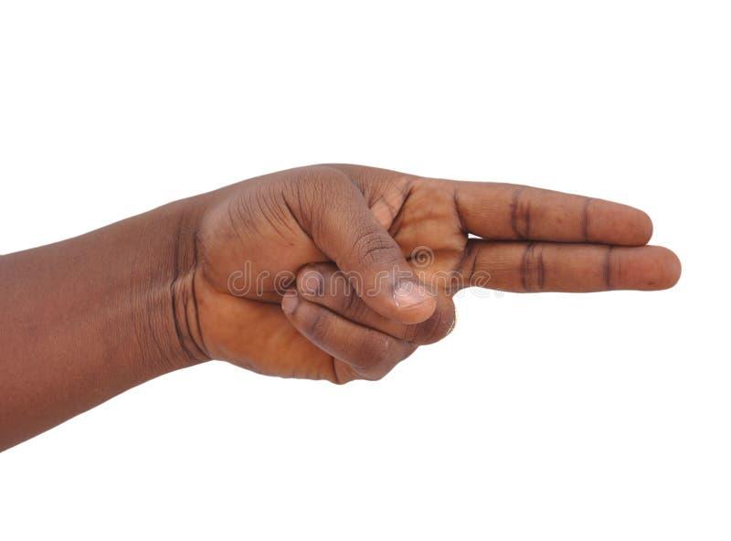 手势语 免版税图库摄影