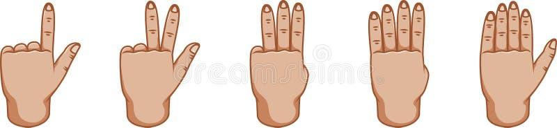 手势,任何目的了不起的设计 编号 姿态线象 传染媒介姿态 奶油被装载的饼干 外面边 库存例证