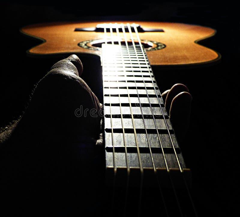 手吉他的藏品脖子 图库摄影