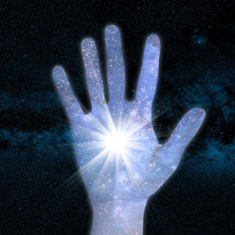 手和宇宙 图库摄影