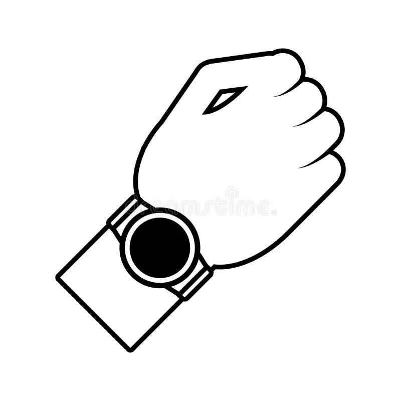 插画 包括有 电子, 时间, 阿帕卢萨马, 稀薄, 线路, 时钟 - 82509134图片