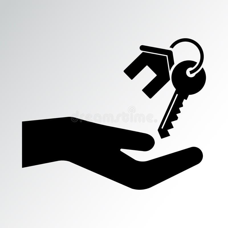 手和房子钥匙 也corel凹道例证向量 库存例证