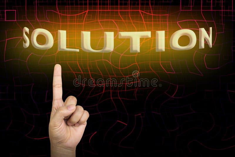 手和手指指向或表明直接地对文本解答  库存图片