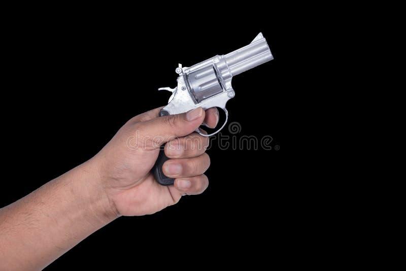 手和枪 免版税图库摄影