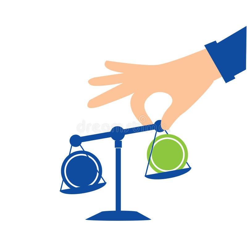 手和资产负债表 概念企业例证 向量例证