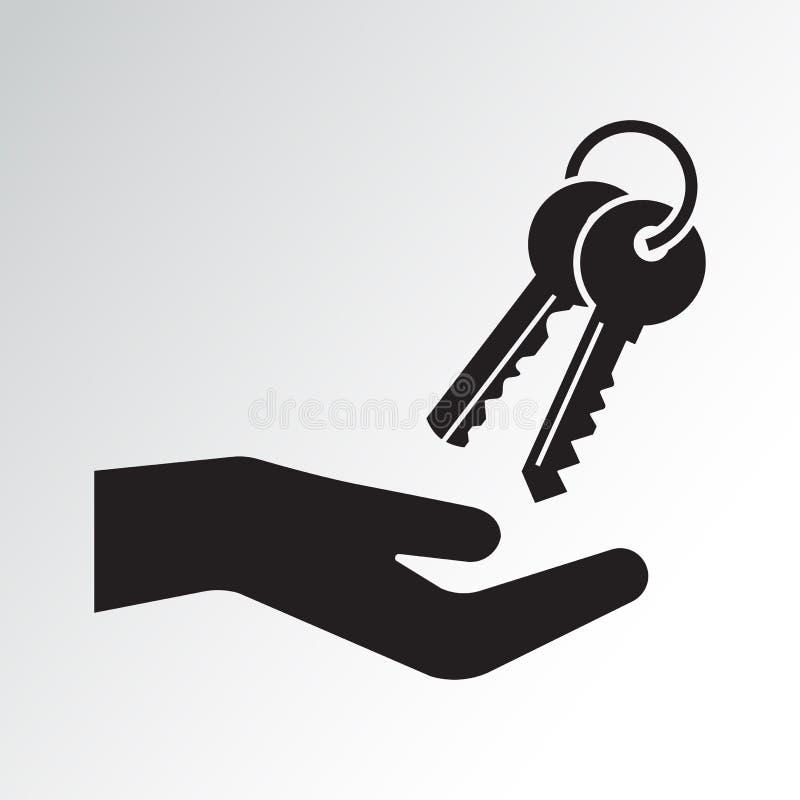 手和钥匙串 r 向量例证
