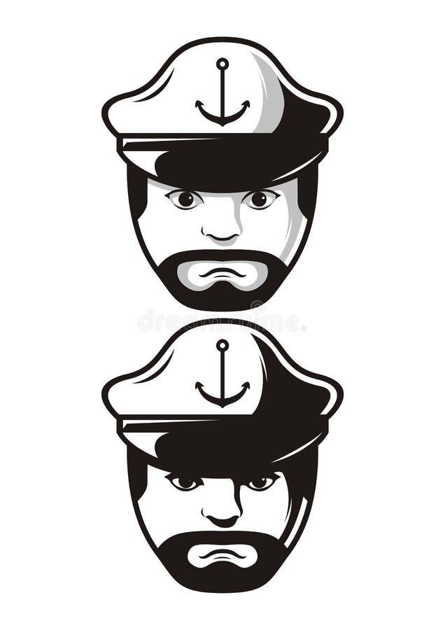 水手商标 免版税图库摄影