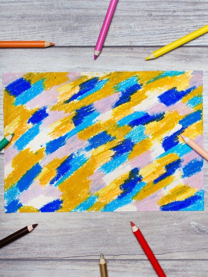 手图画照片  背景的五颜六色的纹理 库存照片