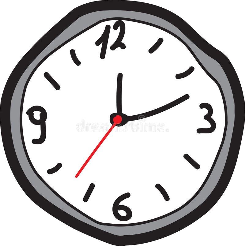 手图画时钟 向量例证