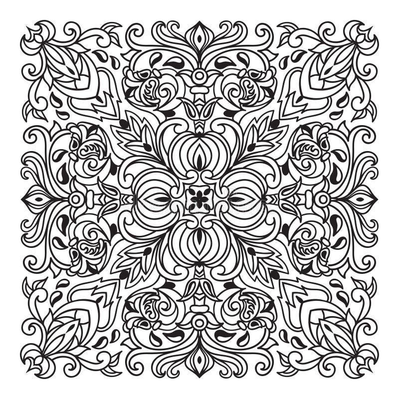手图画zentangle坛场元素 意大利色彩强烈样式 向量例证