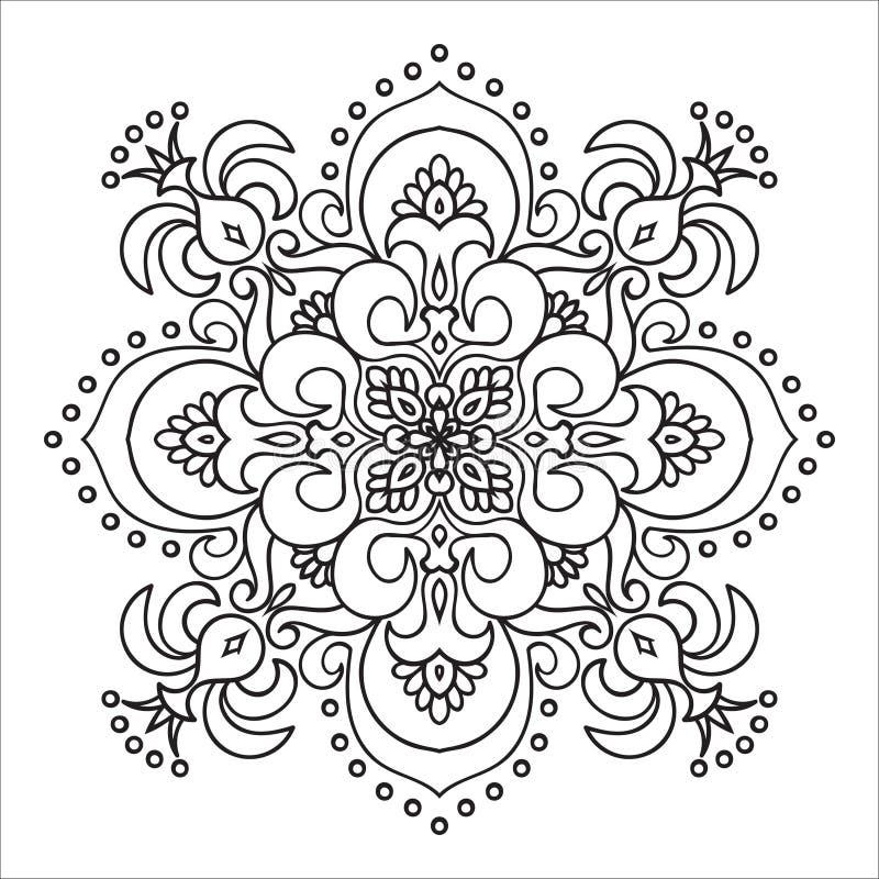 手图画zentangle坛场元素 意大利色彩强烈样式 库存例证