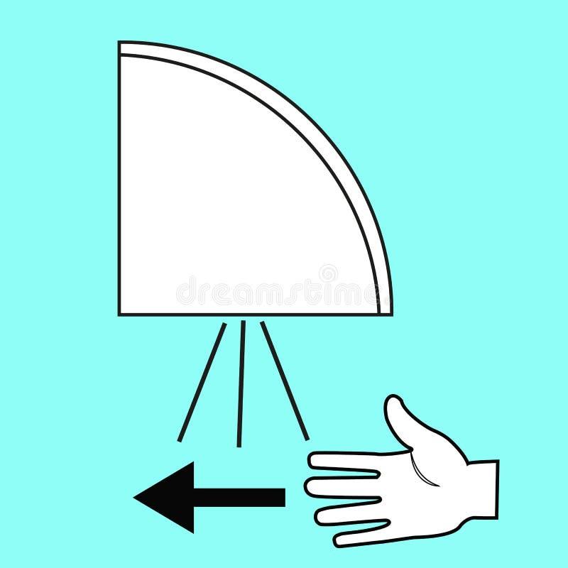手在公共厕所传染媒介例证的烘干机机器 库存例证