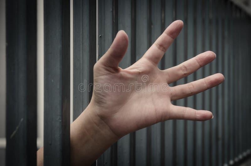 手在监狱 免版税库存照片