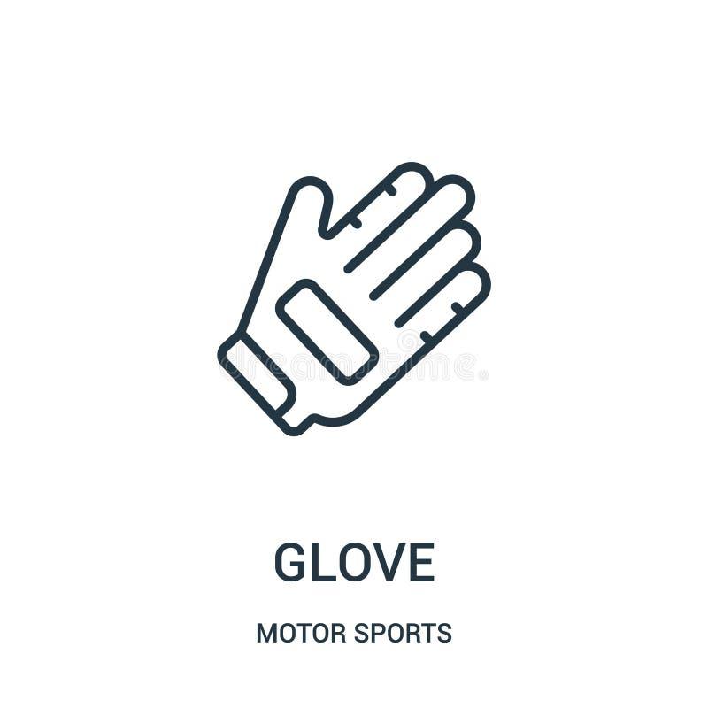 手套从汽车竞赛汇集的象传染媒介 稀薄的线手套概述象传染媒介例证 r 库存例证