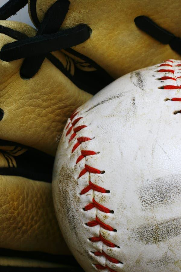 手套垒球 库存图片