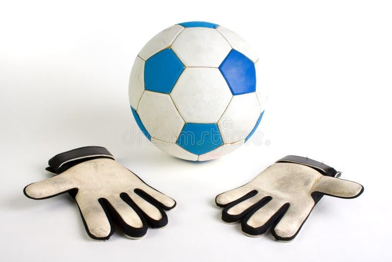 手套守门员足球 免版税图库摄影