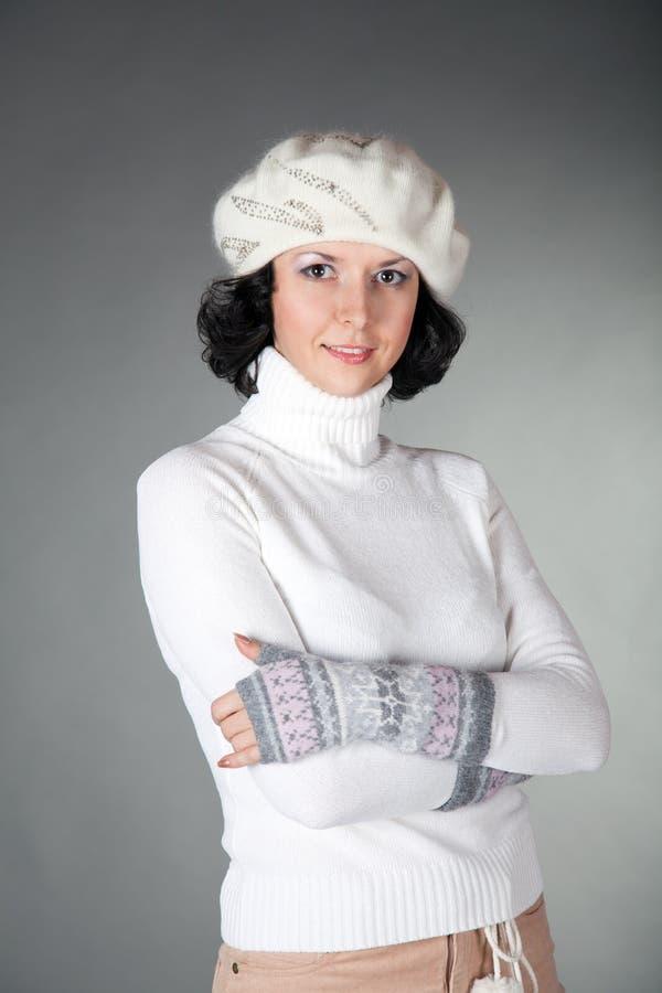 手套帽子妇女年轻人 图库摄影