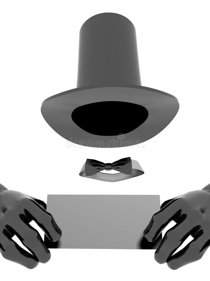 手套帽子魔术师 向量例证