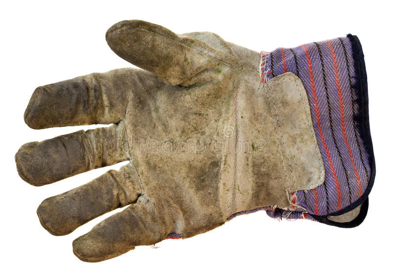手套皮革工作 免版税库存图片