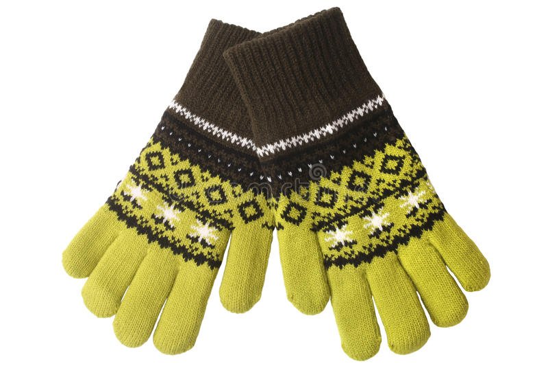 手套编织了温暖羊毛 免版税库存图片