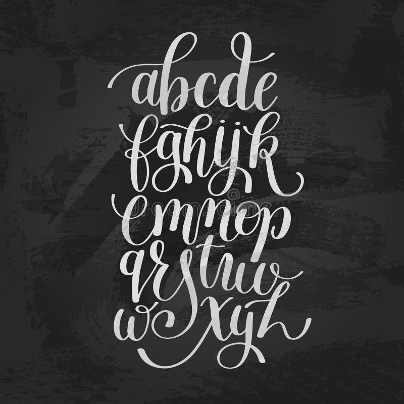 手字法字母表设计,现代手写的刷子的剧本 库存例证