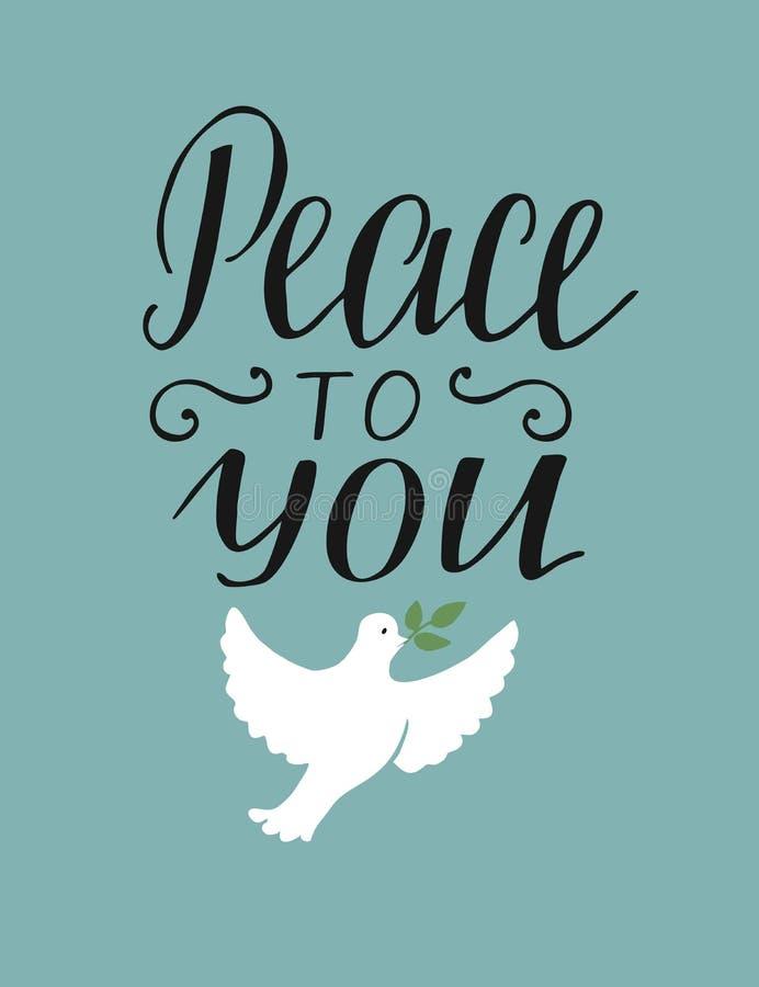 手对您的字法和平有鸠的 皇族释放例证