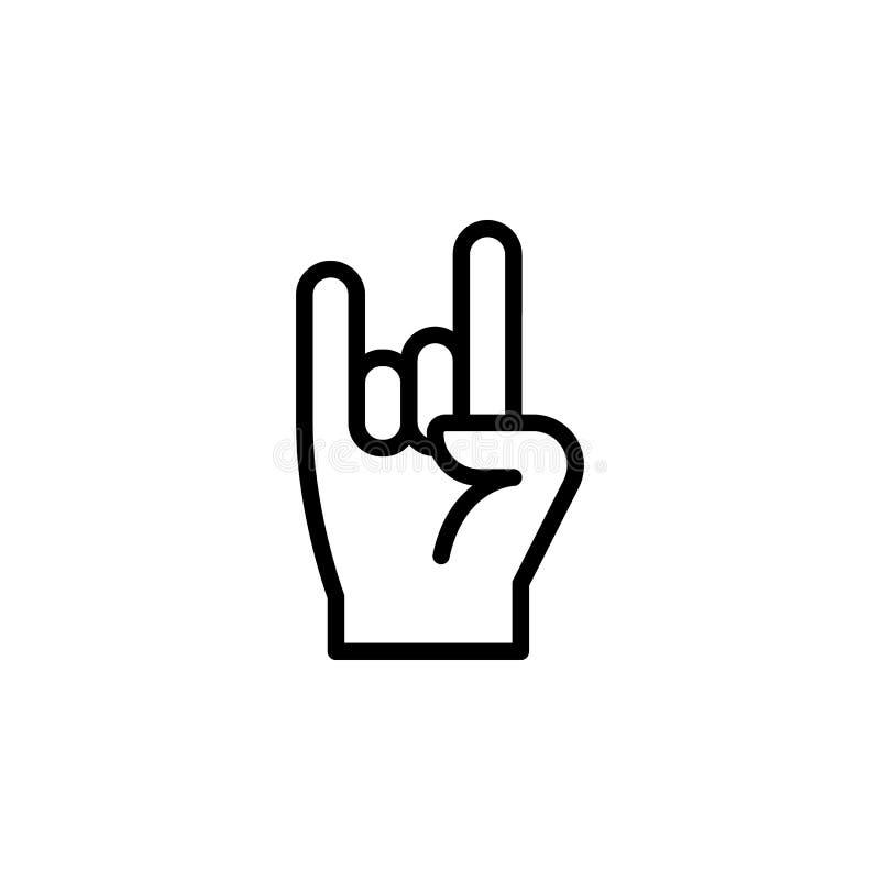 手岩石姿态概述象 手势例证象的元素 标志,标志可以为网,商标,流动应用程序使用, 向量例证