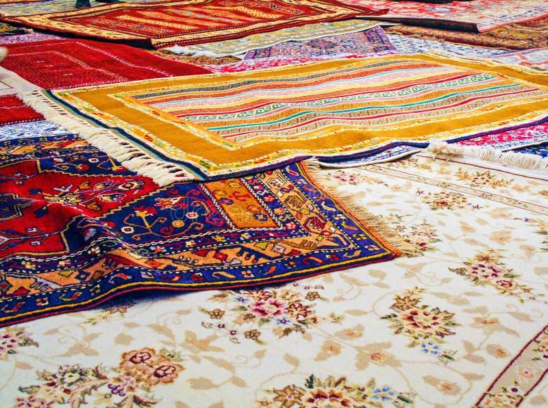 手工制造传统地毯 免版税库存图片