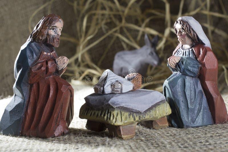 手工制造圣诞节小儿床 库存图片