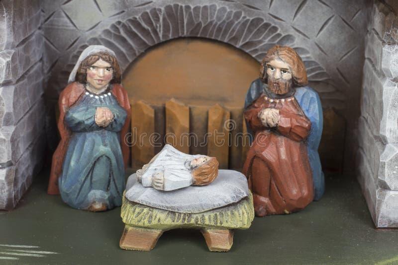 手工制造圣诞节小儿床 免版税库存图片