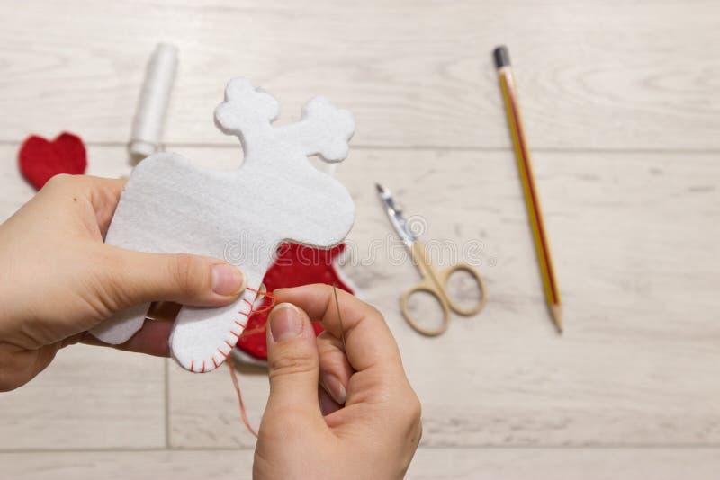 手工制造圣诞节玩具 图库摄影