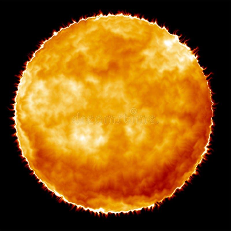 手工制造太阳,幻想,抽象,背景的位图 皇族释放例证