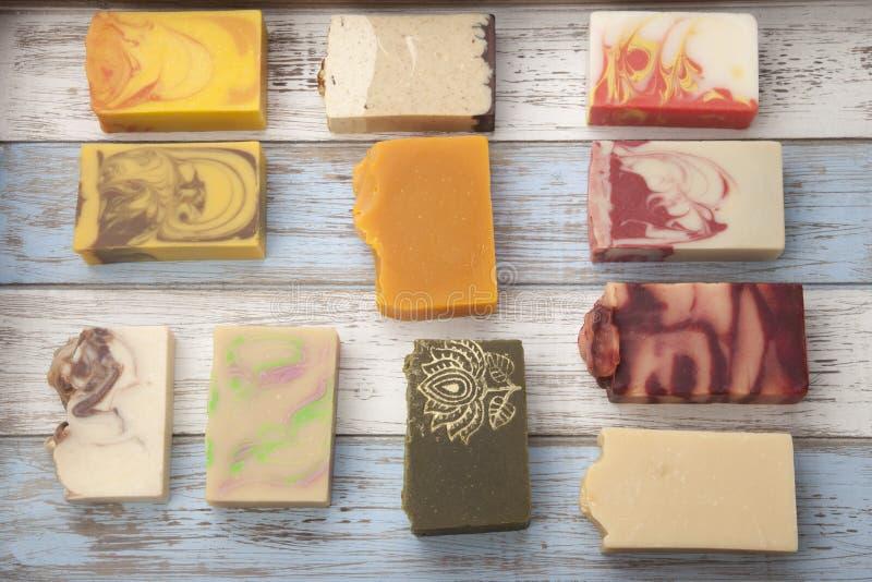 手工制造有机肥皂 库存照片