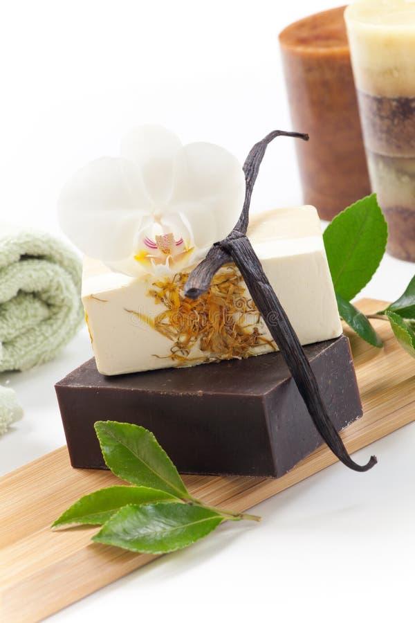 手工制造有机肥皂 免版税库存图片
