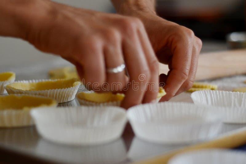 手工制造松脆的糕点 库存照片