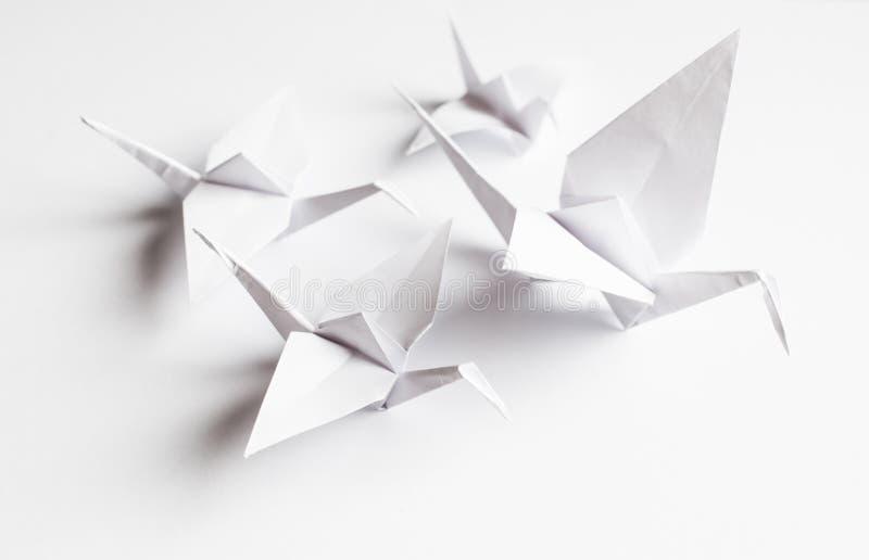 手工制造白色的起重机 免版税库存图片