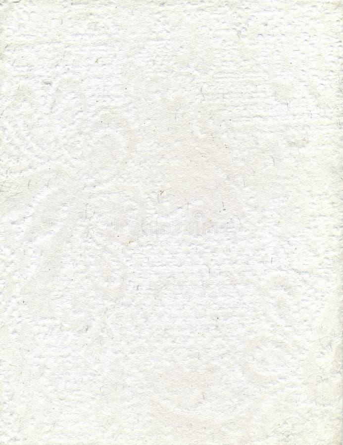 手工制造白色织地不很细纸 免版税库存照片