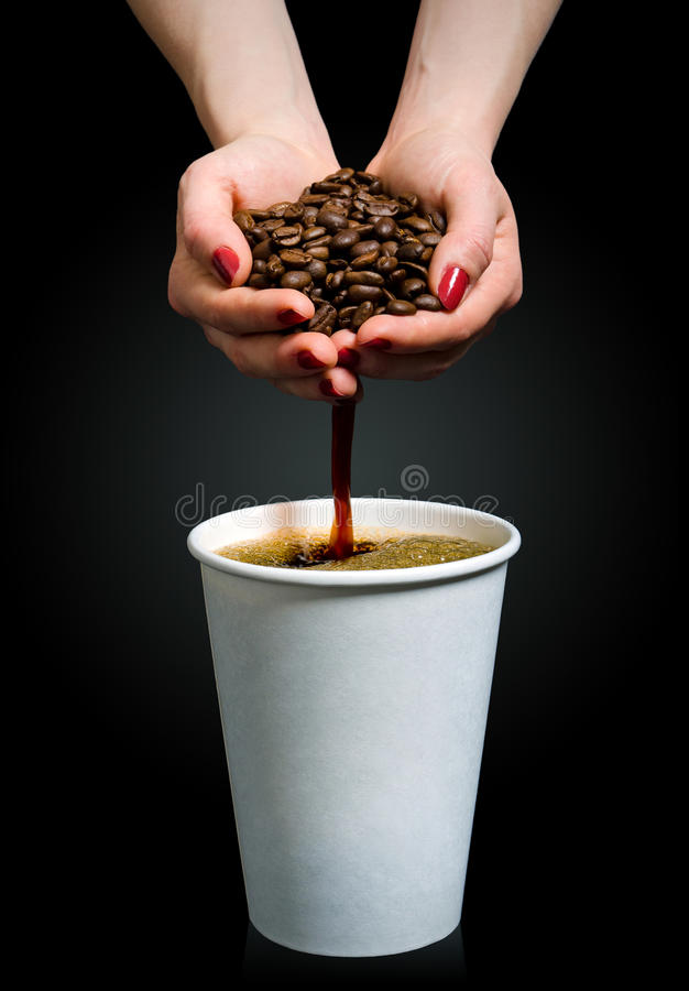 手工制造的咖啡 库存照片