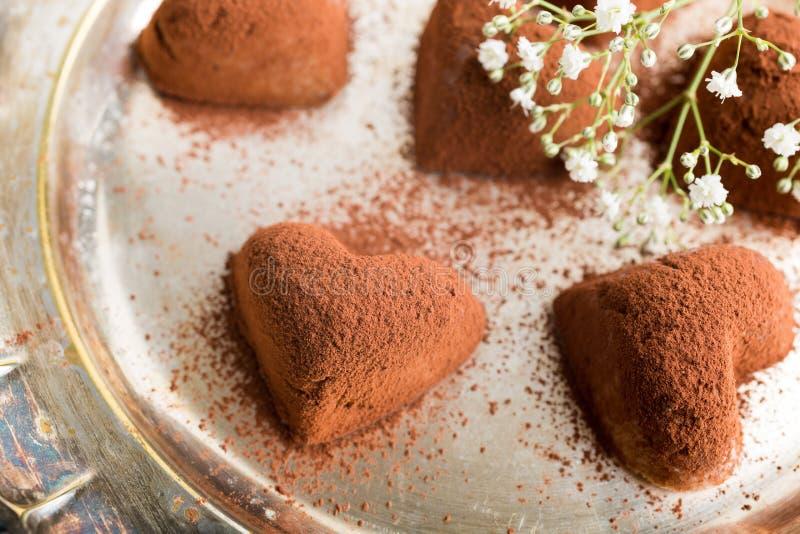 手工制造糖果提拉米苏 免版税库存照片