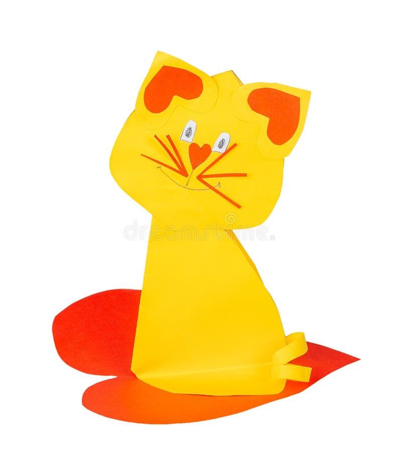 手工制造纸的猫 库存照片