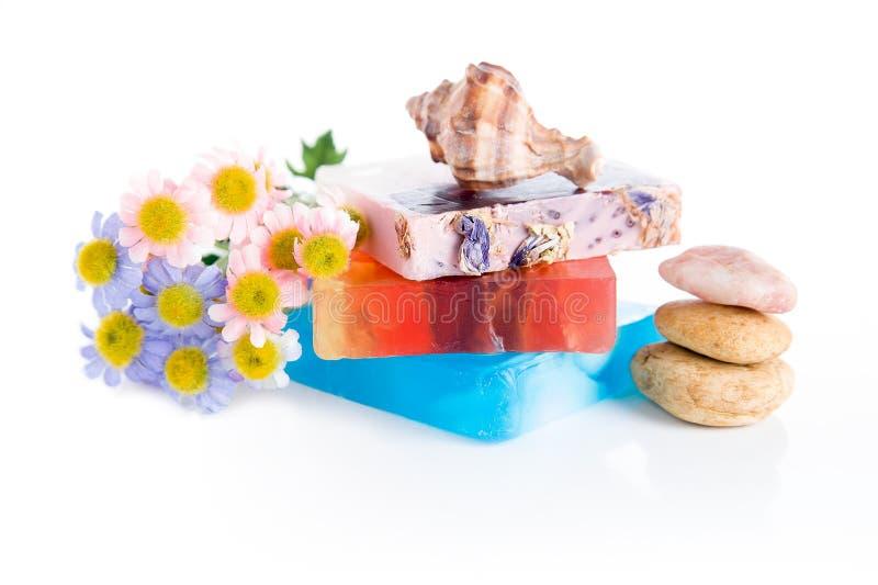 手工制造肥皂 免版税库存图片