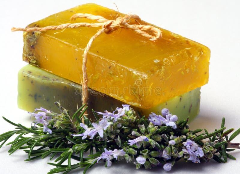 手工制造自然skincare肥皂 免版税库存图片