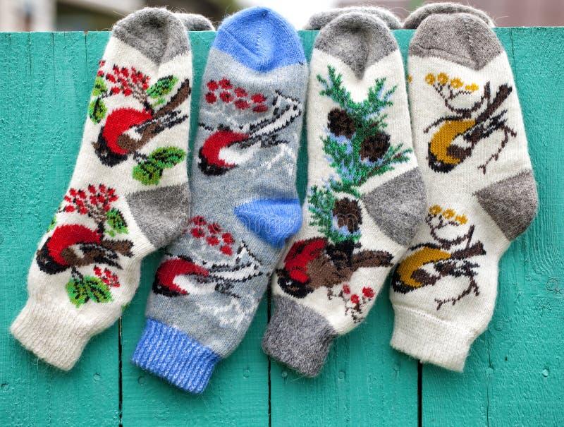 手工制造袜子 免版税库存照片