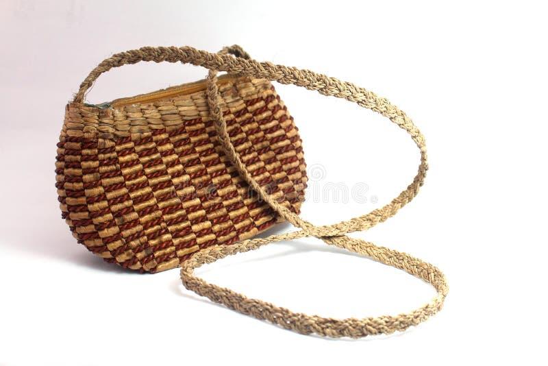 手工制造被编织的手袋 库存图片