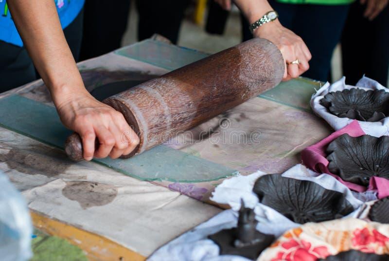手工制造陶瓷板材 库存图片