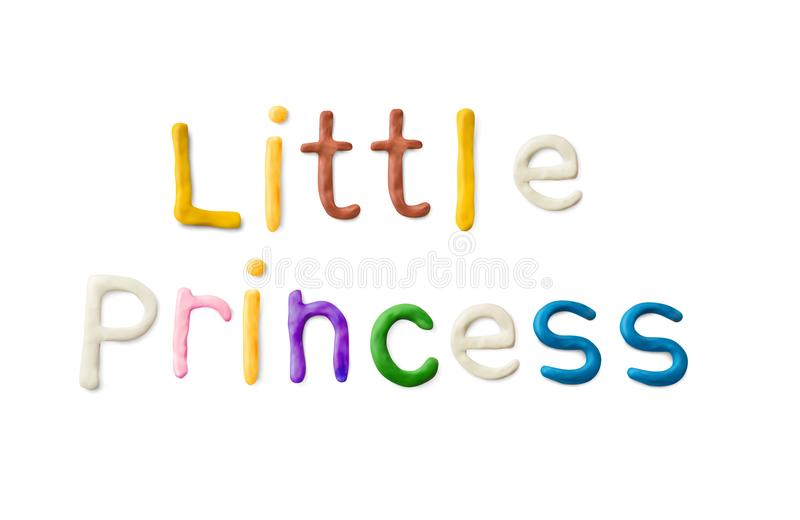 手工制造雕塑黏土词 小公主 皇族释放例证