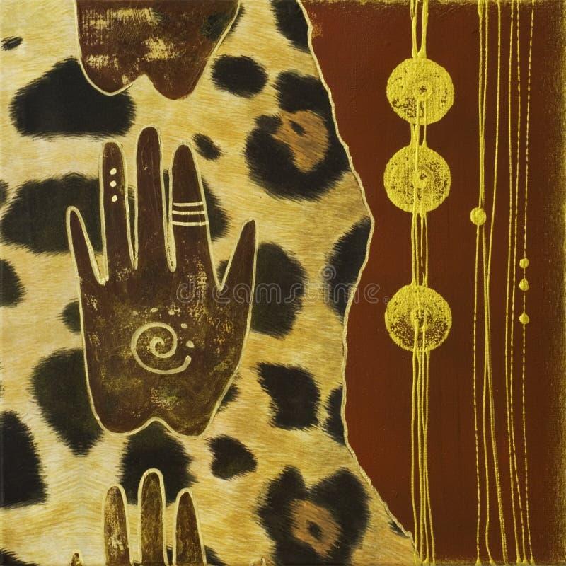 手工制造非洲的艺术品 向量例证