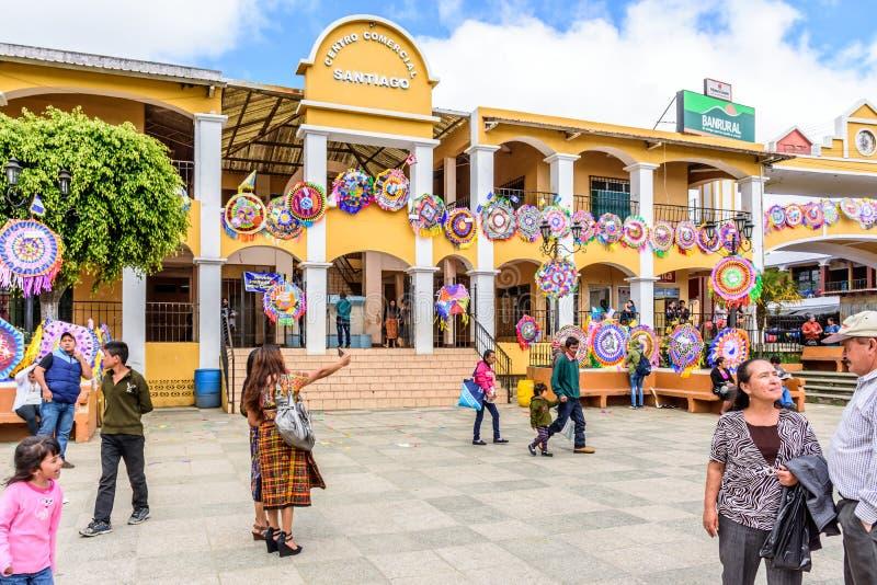 手工制造风筝在市中心在诸圣日天,圣地亚哥Sacate 库存图片
