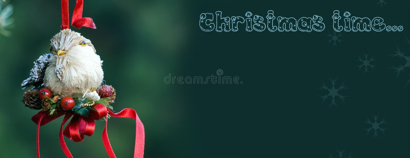 手工制造鸟的圣诞节装饰 图库摄影